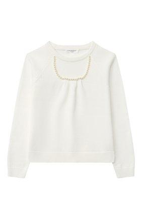 Детский пуловер CHARABIA белого цвета, арт. S15012   Фото 1