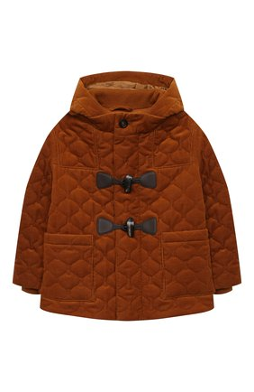 Детского хлопковая куртка LORO PIANA коричневого цвета, арт. FAL2277 | Фото 1 (Материал утеплителя: Шерсть; Материал внешний: Хлопок; Рукава: Длинные; Ростовка одежда: 10 - 11 лет | 140 - 146см, 12 лет | 152 см, 4 года | 104 см, 6 лет | 116 см, 8 лет | 128 см)