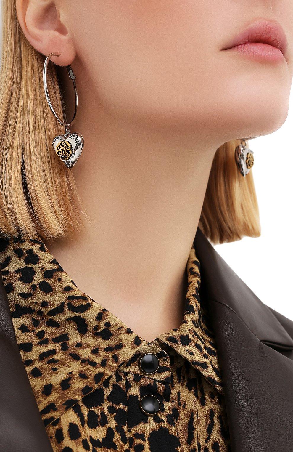 Женские серьги ALEXANDER MCQUEEN серебряного цвета, арт. 640266/J160Z | Фото 2