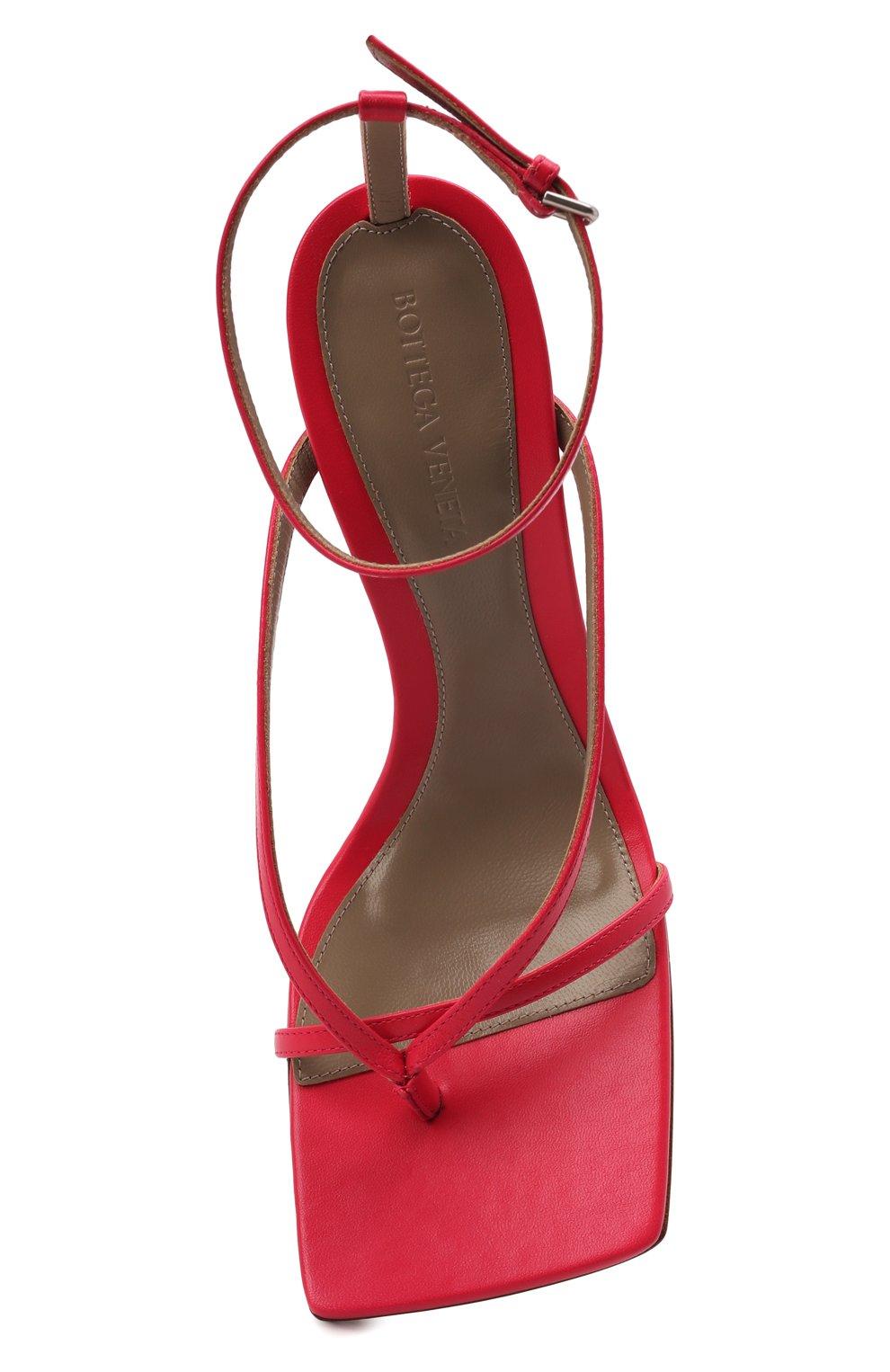 Женские кожаные босоножки the stretch BOTTEGA VENETA розового цвета, арт. 608835/VBSF0 | Фото 5
