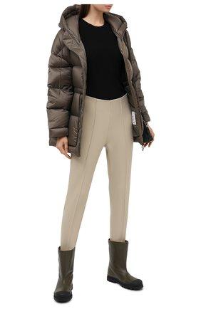 Женские брюки со штрипками BOGNER бежевого цвета, арт. 11714170 | Фото 2