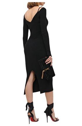 Женские кожаные босоножки du desert 100 CHRISTIAN LOUBOUTIN черного цвета, арт. sandale du desert 100 nappa/crepe satin   Фото 2