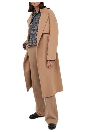 Женские шерстяные брюки THEORY бежевого цвета, арт. I0001201 | Фото 2