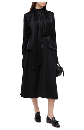 Женская блузка LOEWE черного цвета, арт. S359332X16   Фото 2