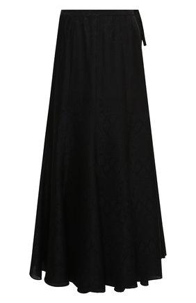 Женская юбка из вискозы и шелка ZADIG&VOLTAIRE черного цвета, арт. WJCP0309F | Фото 1