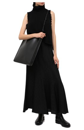 Женская юбка из вискозы и шелка ZADIG&VOLTAIRE черного цвета, арт. WJCP0309F | Фото 2
