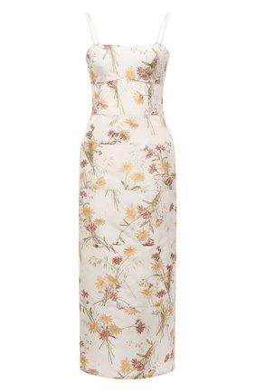 Женское шелковое платье BROCK COLLECTION кремвого цвета, арт. BRPR5021A/BR077   Фото 1