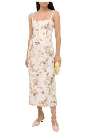 Женское шелковое платье BROCK COLLECTION кремвого цвета, арт. BRPR5021A/BR077   Фото 2