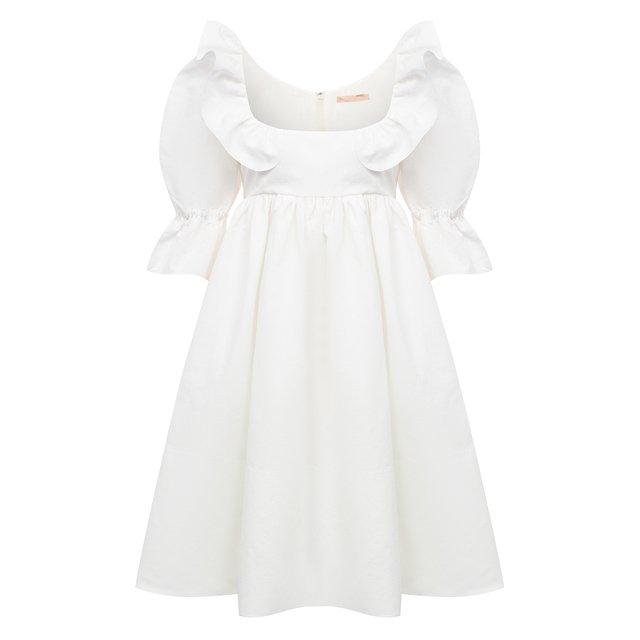 Платье из льна и хлопка Brock Collection