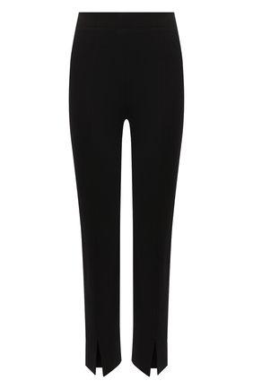 Женские брюки TIBI черного цвета, арт. P220BS3170   Фото 1 (Длина (брюки, джинсы): Стандартные; Материал внешний: Синтетический материал, Вискоза; Женское Кросс-КТ: Брюки-одежда; Силуэт Ж (брюки и джинсы): Прямые; Стили: Минимализм)
