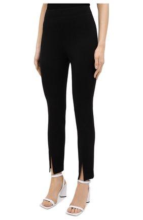 Женские брюки TIBI черного цвета, арт. P220BS3170   Фото 3 (Длина (брюки, джинсы): Стандартные; Женское Кросс-КТ: Брюки-одежда; Материал внешний: Синтетический материал, Вискоза; Силуэт Ж (брюки и джинсы): Прямые; Стили: Минимализм)