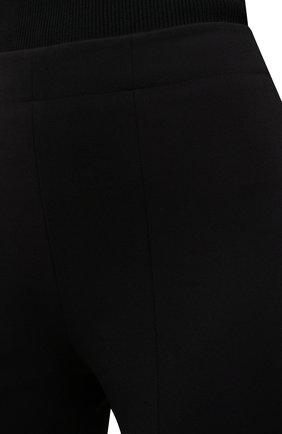Женские брюки TIBI черного цвета, арт. P220BS3170   Фото 5 (Длина (брюки, джинсы): Стандартные; Женское Кросс-КТ: Брюки-одежда; Материал внешний: Синтетический материал, Вискоза; Силуэт Ж (брюки и джинсы): Прямые; Стили: Минимализм)