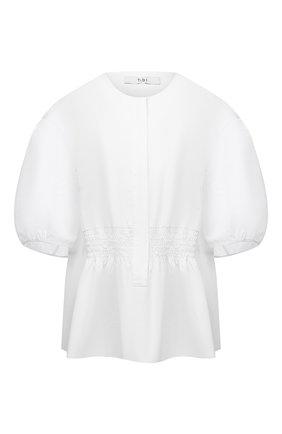 Женская хлопковая блузка TIBI белого цвета, арт. P220EC7540 | Фото 1
