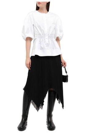 Женская хлопковая блузка TIBI белого цвета, арт. P220EC7540 | Фото 2