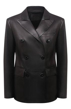Женский кожаный жакет DROME черного цвета, арт. DPD3079/D400 | Фото 1