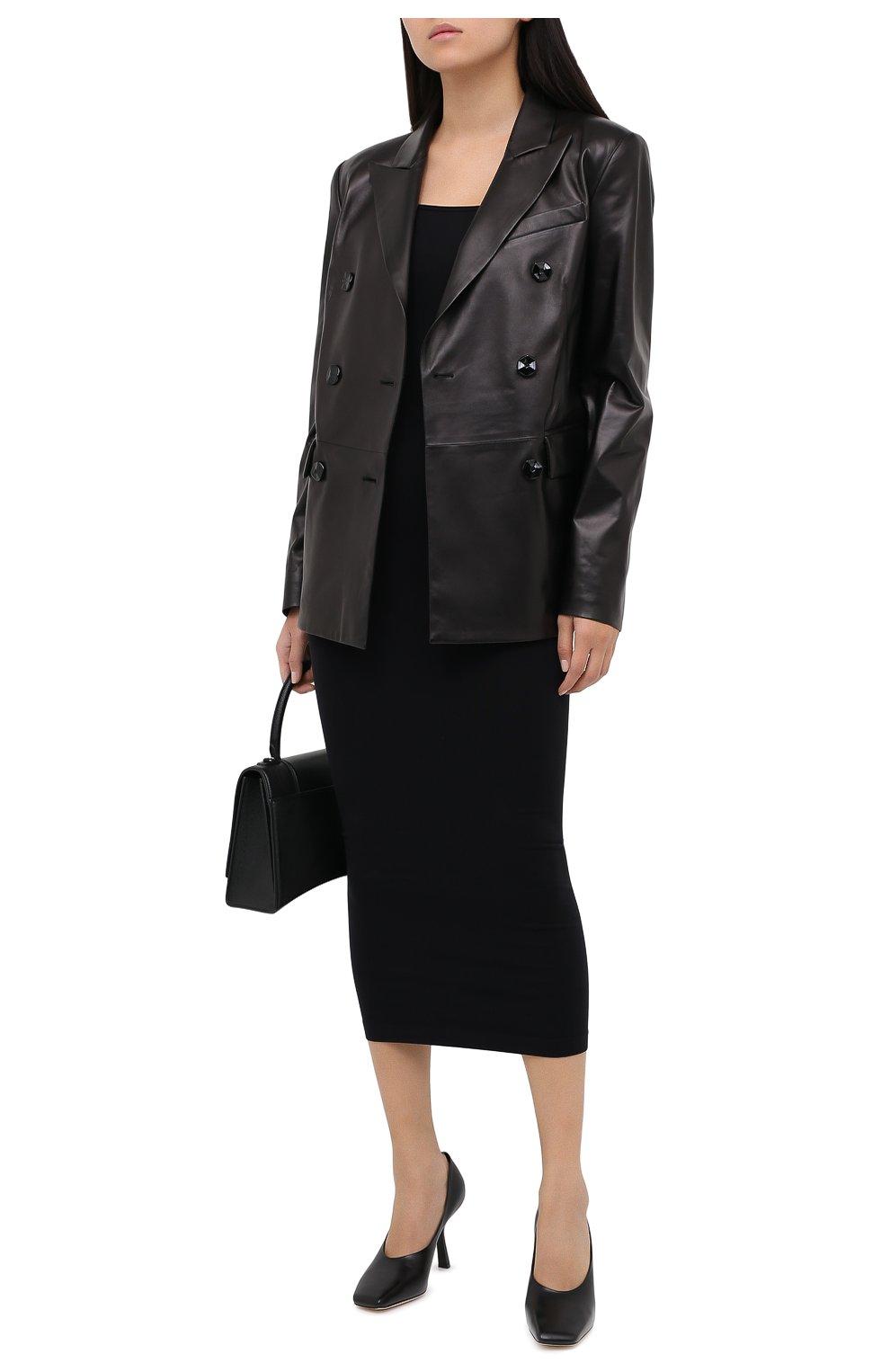 Женский кожаный жакет DROME черного цвета, арт. DPD3079/D400 | Фото 2