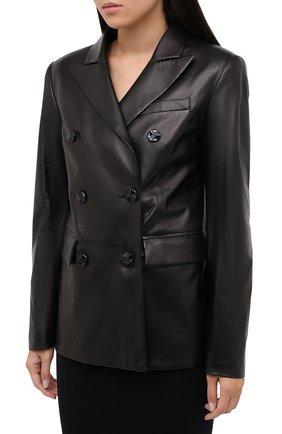 Женский кожаный жакет DROME черного цвета, арт. DPD3079/D400 | Фото 4
