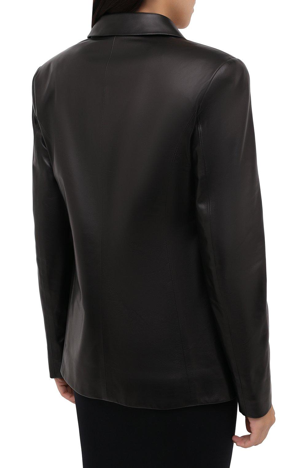 Женский кожаный жакет DROME черного цвета, арт. DPD3079/D400 | Фото 5