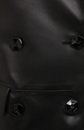 Женский кожаный жакет DROME черного цвета, арт. DPD3079/D400 | Фото 6