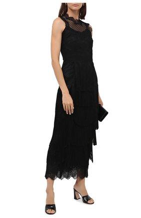 Женские кожаные мюли maudi GIANVITO ROSSI черного цвета, арт. G18030.85RIC.VERNER0   Фото 2