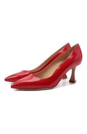 Женская кожаные туфли GIANVITO ROSSI красного цвета, арт. G22016.70RIC.SMATABS | Фото 1