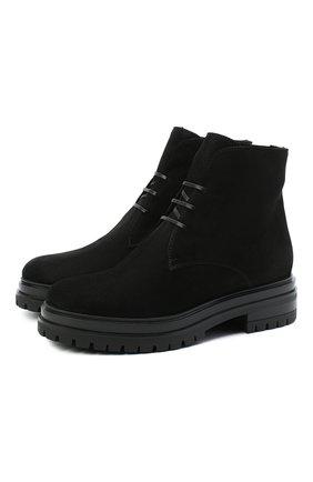Женские замшевые ботинки GIANVITO ROSSI черного цвета, арт. G73364.20G0M.SFUNENE | Фото 1