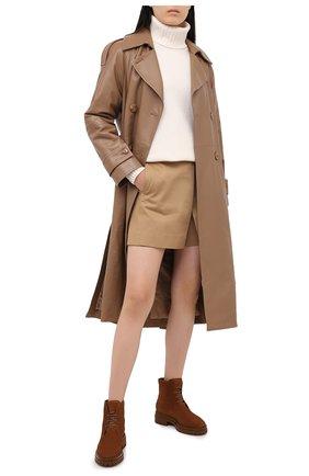 Женские замшевые ботинки GIANVITO ROSSI светло-коричневого цвета, арт. G73364.20G0M.SFUTEXT | Фото 2