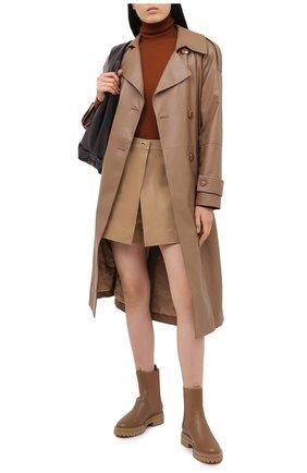 Женские кожаные ботинки GIANVITO ROSSI бежевого цвета, арт. G73465.20G0M.CLYCMCM | Фото 2