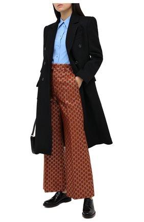 Женская кожаные дерби TOD'S черного цвета, арт. XXW59C0DD20XLX   Фото 2