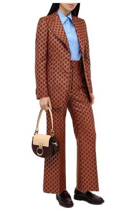 Женские кожаные лоферы TOD'S бордового цвета, арт. XXW59C0DD40XLX   Фото 2
