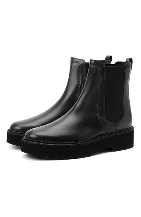 Женские кожаные ботинки TOD'S черного цвета, арт. XXW80C0DR710G9 | Фото 1