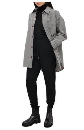 Женские кожаные ботинки TOD'S черного цвета, арт. XXW80C0DR710G9 | Фото 2