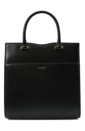 Женская сумка uptown SAINT LAURENT черного цвета, арт. 636542/0SX0J | Фото 1