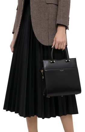 Женская сумка uptown SAINT LAURENT черного цвета, арт. 636542/0SX0J | Фото 2