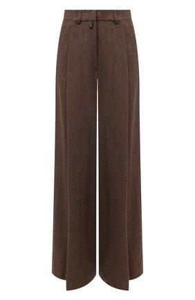 Женские шерстяные брюки DRIES VAN NOTEN коричневого цвета, арт. 202-10940-1041 | Фото 1