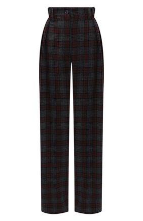 Женские шерстяные брюки DRIES VAN NOTEN бордового цвета, арт. 202-10953-1040   Фото 1