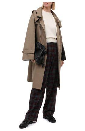 Женские шерстяные брюки DRIES VAN NOTEN бордового цвета, арт. 202-10953-1040   Фото 2