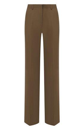 Женские шерстяные брюки DRIES VAN NOTEN хаки цвета, арт. 202-10981-1031 | Фото 1