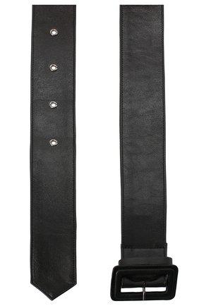 Женский кожаный ремень DRIES VAN NOTEN черного цвета, арт. 202-11401-135 | Фото 2