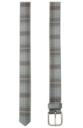 Женский кожаный ремень DRIES VAN NOTEN серого цвета, арт. 202-11402-500 | Фото 2