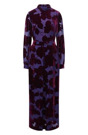Женское платье из вискозы и шелка DRIES VAN NOTEN фиолетового цвета, арт. 202-18623-1249 | Фото 1