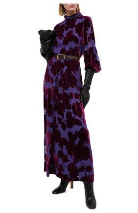 Женское платье из вискозы и шелка DRIES VAN NOTEN фиолетового цвета, арт. 202-18623-1249 | Фото 2