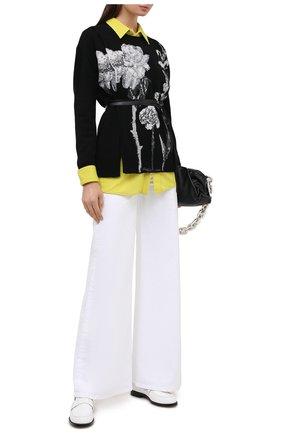 Женский пуловер из шерсти и кашемира VALENTINO черно-белого цвета, арт. UB0KCB635WT | Фото 2