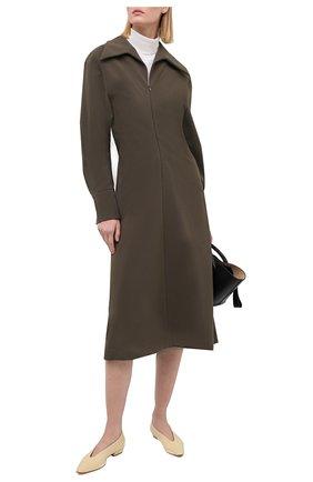 Женское платье LOW CLASSIC хаки цвета, арт. L0W20FW_DR01KH | Фото 2