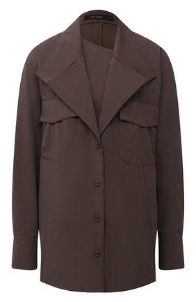 Женская рубашка LOW CLASSIC темно-коричневого цвета, арт. L0W20FW_SH08DB | Фото 1