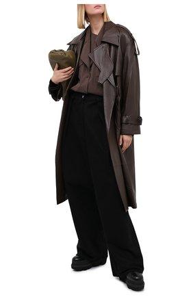 Женская рубашка LOW CLASSIC темно-коричневого цвета, арт. L0W20FW_SH08DB | Фото 2