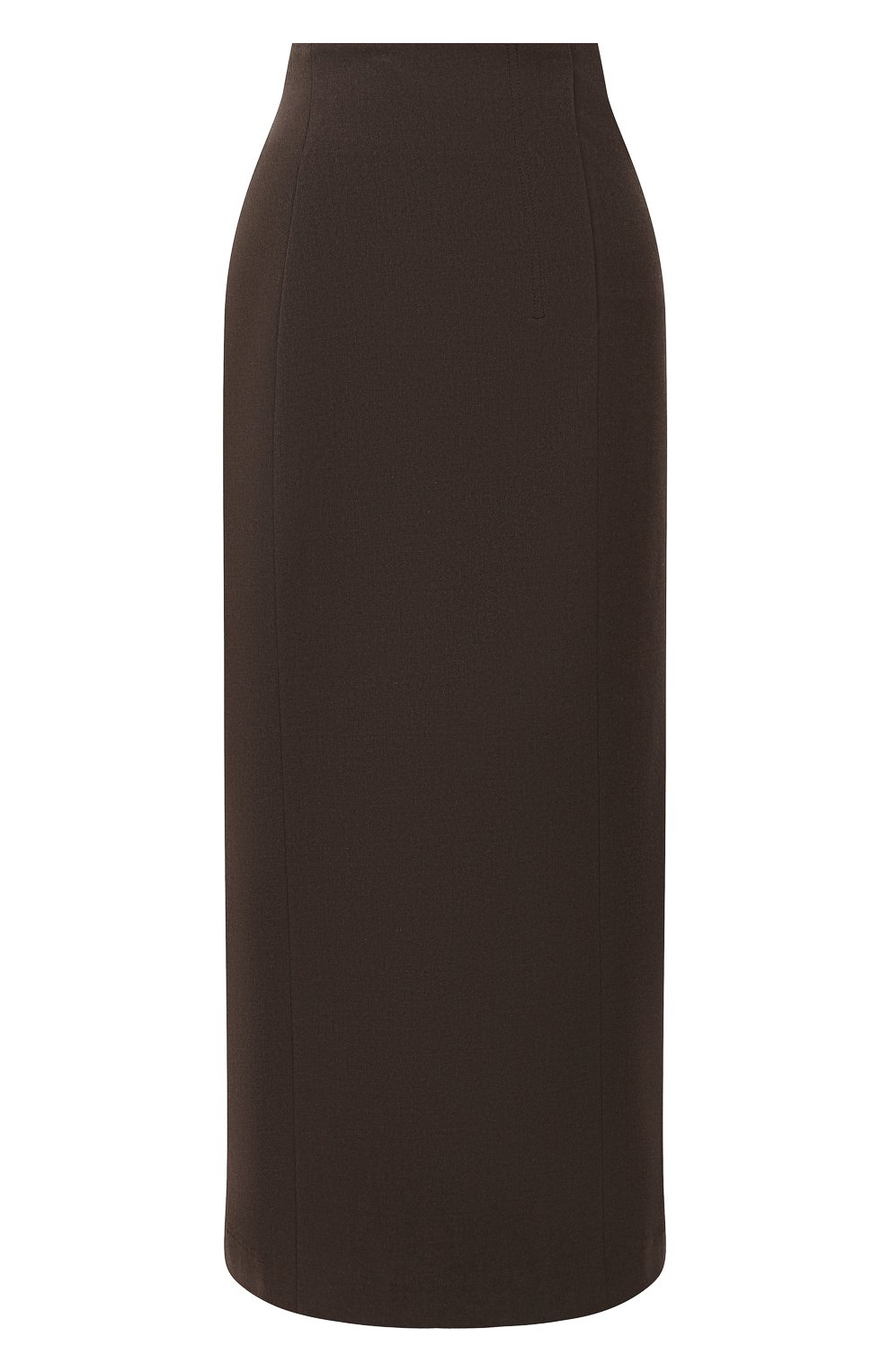 Женская юбка LOW CLASSIC коричневого цвета, арт. L0W20FW_SK04BR | Фото 1 (Материал внешний: Синтетический материал, Вискоза; Женское Кросс-КТ: Юбка-одежда; Стили: Классический; Длина Ж (юбки, платья, шорты): Миди; Материал подклада: Синтетический материал)