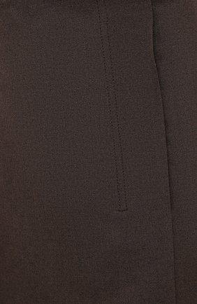 Женская юбка LOW CLASSIC коричневого цвета, арт. L0W20FW_SK04BR | Фото 5 (Материал внешний: Синтетический материал, Вискоза; Женское Кросс-КТ: Юбка-одежда; Стили: Классический; Длина Ж (юбки, платья, шорты): Миди; Материал подклада: Синтетический материал)