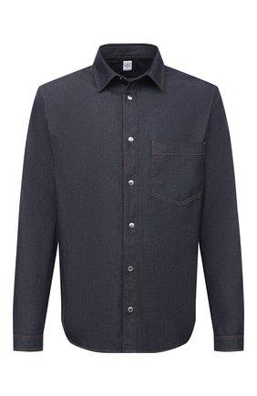 Мужская джинсовая рубашка BERLUTI темно-синего цвета, арт. R18HCL80-001 | Фото 1