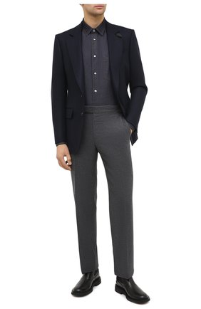 Мужская джинсовая рубашка BERLUTI темно-синего цвета, арт. R18HCL80-001 | Фото 2